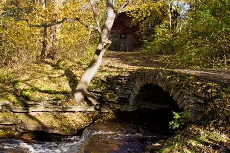 Old stone bridge with a vault  photo