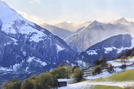 View of alp autumn landscape photo