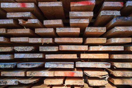 uploaded: Planks uploaded at a lumberyard