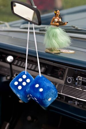 Car dice in a old american car Stock Photo - 15470929
