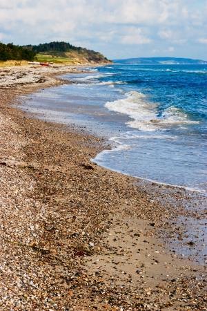 Sandy beach at a beautiful coastline Stock Photo - 15470958