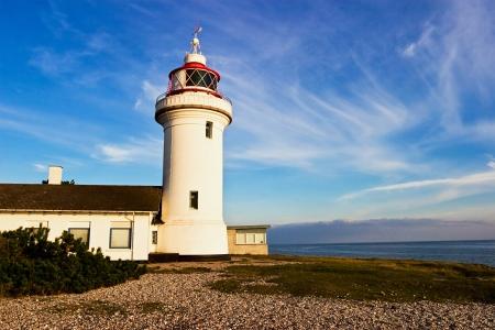 Sletterhage Lighthouse at the coast