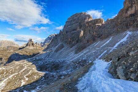Hiking path in Drei Zinnen Nature Park Reklamní fotografie