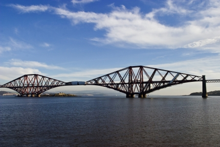 Forth Rail Bridge at South Queensferry Scotland photo