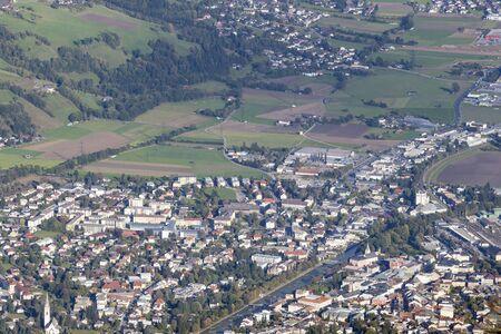 osttirol: Views over Lienz city in Austria