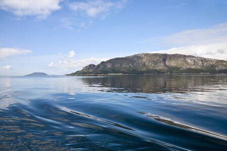 Fjord archipelago at the coast photo