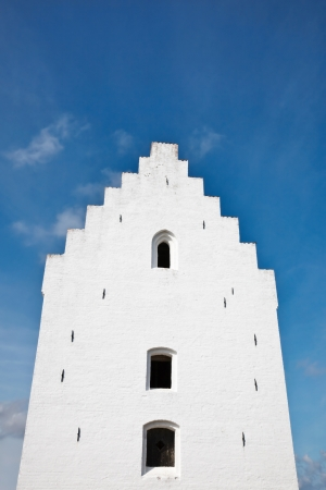gabled: The church tower with stepped gable Stock Photo