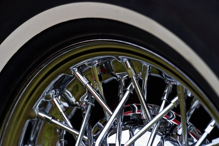 White walled tyre on a old car Stock Photo - 17330625