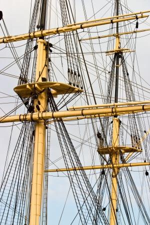 rigging: Rigging on a old frigate