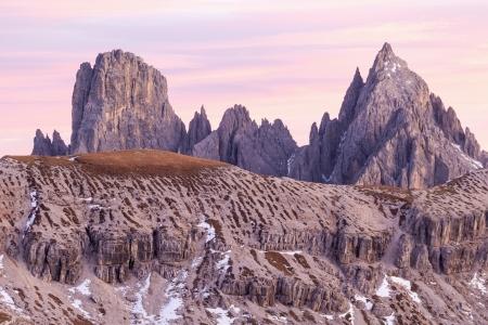 alpenglow: Dolomites in alpenglow at sunset