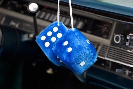 Car dice in a old american car Stock Photo - 21135762