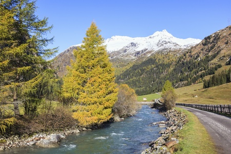 Autumn in the alp valley