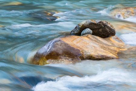 flowing river: Rocks in a rapid river