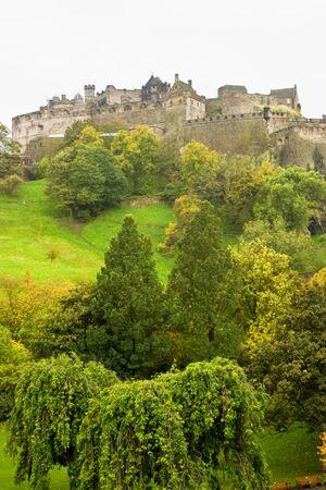 Edinburgh castle in autumn color