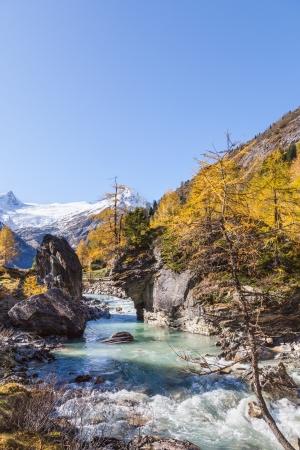 osttirol: Rapid River in alp landscape