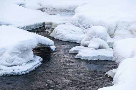 River with snow and ice Stock Photo - 24517294