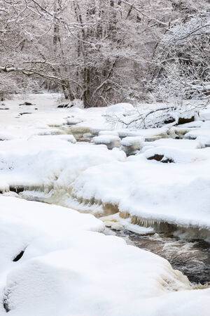 Wintry river landscape with snow Stock Photo - 24601383