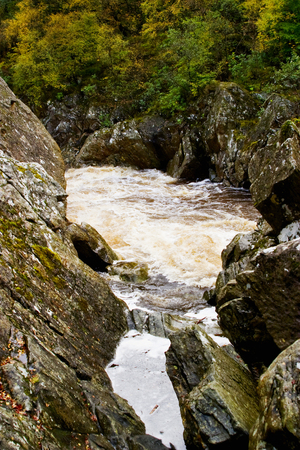 River flow in the canyon photo