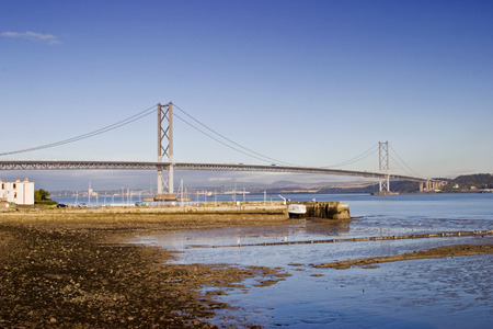 conveyed: Forth Bridge at South Queensferry Scotland Stock Photo