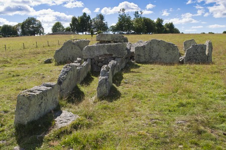 megalith: Megalith grave Girommen in a field at Ekornavallen in Sweden