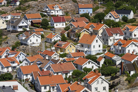 View of a residential area in Sweden