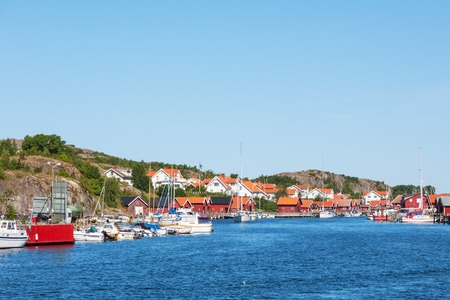 Old fishing village on the Swedish west coast photo