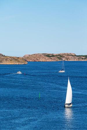 sailingboat: Sailboats at sea in the Swedish archipelago
