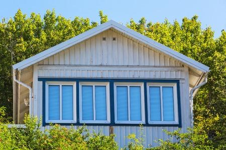 gable house: Window on the gable of a house
