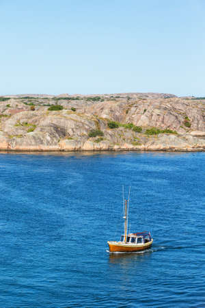 motorboat: Motorboat on the sea in the archipelago