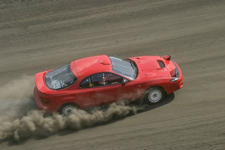 ラリーのレース トラック上の車 写真素材