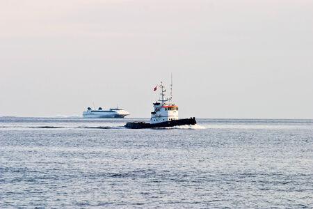 tugboat: Tugboat on the sea