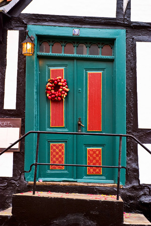 half  timbered: Picturesque door in to the half timbered house