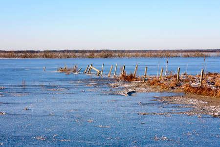 frozen lake: View of the frozen lake Stock Photo