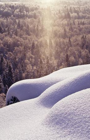 sunspot: Sunspot i winter landscape Stock Photo