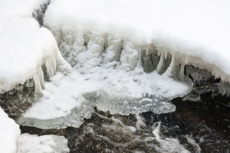 frozen river: Ice and snow on a frozen river