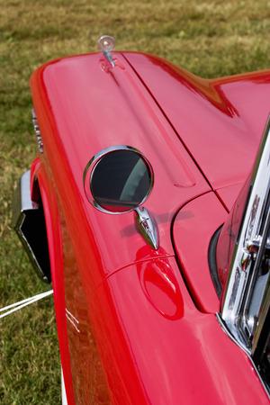 Rear mirror on a american car photo