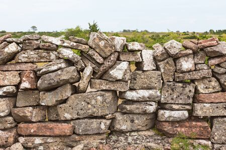 moorland: Old stone wall on the moorland