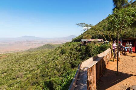 rift: View of the Rift Valley in Kenya Stock Photo
