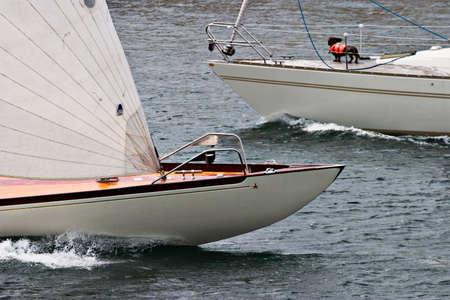 lifejacket: Bow on a sailboat