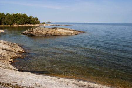 waterscapes: Rocky coastline at the sea archipelago Stock Photo
