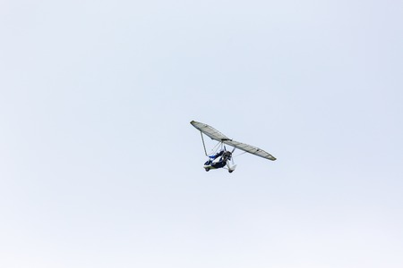 motorized: Motorized glider in the sky Stock Photo