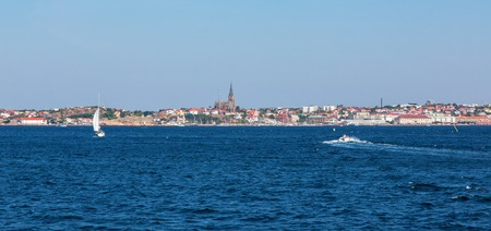 nautical structure: Lysekil city with the church by the sea on the Swedish west coast
