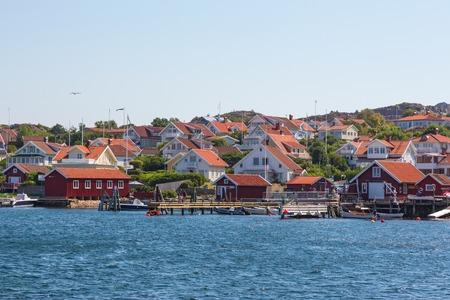 fishing village: Old fishing village on the Swedish west coast