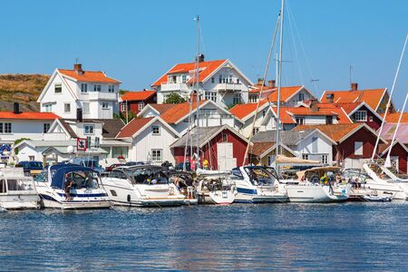 nautical structure: Boats lying at the jetty in the seaside village