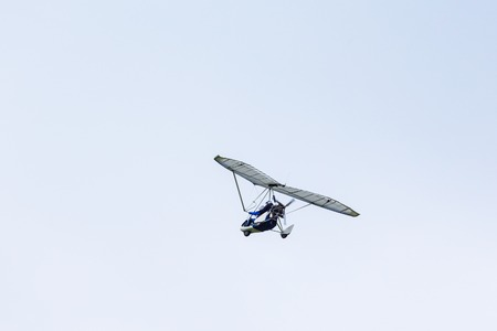motorized: Motorized glider in the skies Stock Photo
