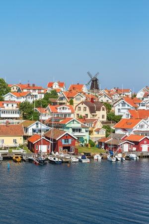 fishing village: Fiskebackskil an old fishing village on the Swedish west coast at summer