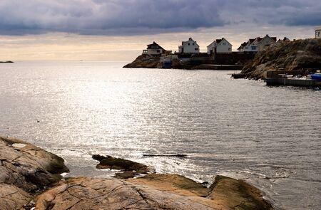 fishing village: Fishing village at the rocky coast