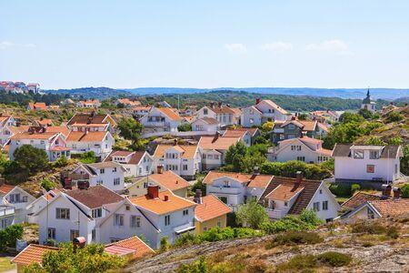 west  coast: View of Grundsund, a coastal village on the Swedish west coast Stock Photo