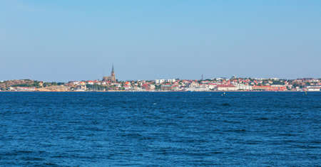 nautical structure: Lysekil city from the sea on the Swedish west coast
