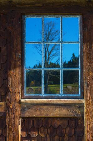 casement: Windows reflections on a old window